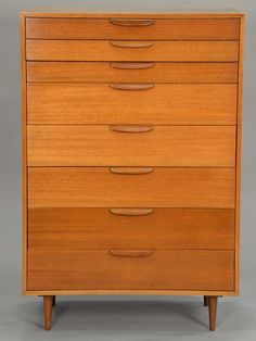 Harvey Probber eight drawer highboy ~ Realized Price $600.00