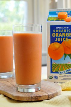 Berry Tropical Sunrise Smoothie (guest starring: carrots!)- kid friendly and can mix in some Vega One or Navitas Natural.