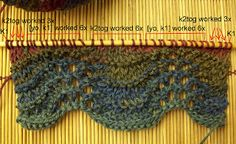 Easy Knitting Tutorial: Feather & Fan Stitch (one of my favorite patterns).