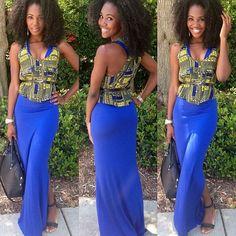 great idea! Put a cute african vest over a dress.