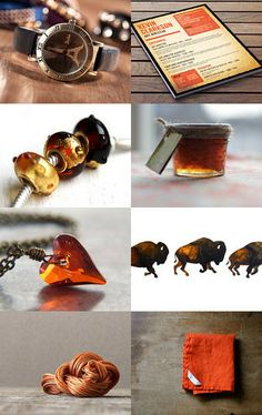 Orange and Brown--Pinned with TreasuryPin.com