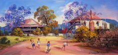 Paintings - D'Arcy W. Doyle - Page 5 - Australian Art Auction Records Australian Painting, Australian Artists, Landscape Art, Landscape Paintings, Oil Paintings, Landscapes, Queenslander, Impressionism Art, Art For Art Sake