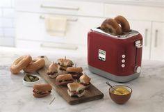 KENWOOD_Toaster TCX751RD Mood Bagels, Stuffed Mushrooms, Kitchen Appliances, Vegetables, Food, Products, Sandwich Toaster, Stuff Mushrooms, Eten