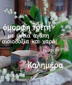 Good Night, Good Morning, Beautiful Pink Roses, Greek Language, Greek Quotes, Nighty Night, Buen Dia, Bonjour, Greek