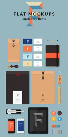 Flat Mockups Items #Flat #Mockup #Mockups #Design #Business #Freebies