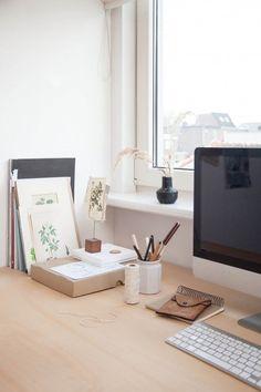 Window desk   Botanical prints.