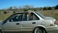 Something unusual riding in car ~ A horse in the backseat on a Kansas highway Driving Class, Watch Funny Videos, Funny Video Clips, Horse Trailers, Weekend Is Over, One Pic, Funny Pictures, Horses, Pets