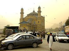Shah-Do Shamshira Mosque (the name translates to Mosque of the King of Two Swords) is a yellow two-story mosque in Kabul, just off the Kabul River in the center of the city