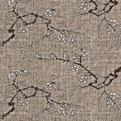 Cherry blossom time - earth tones - brown, wheat, charcoal, white fabric by materialsgirl on Spoonflower - custom fabric Would make good pants.