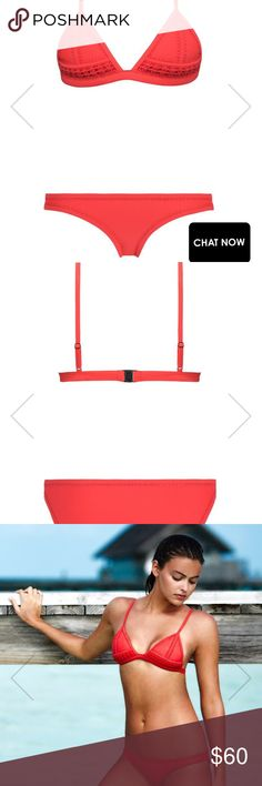 Triangl bikini set Red triangl bikini set, top is in size small ++, bottom is size medium triangl swimwear Swim Bikinis