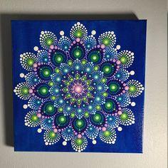 Hand Painted Mandala on Canvas Meditation Mandala Dot Art on