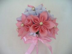 DIY Paper Flower Wedding Bouquet by shawna