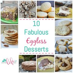 You'll find that these are the best egg free recipes on the Internet!! You won't believe that these are eggless. You won't be disapponted.