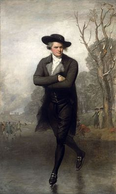 """The Skater,""  (William Grant) painted by Gilbert Stuart, 1782"