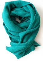 Turquoise chunky scarf