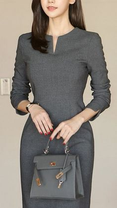 Work Dresses For Women, Elegant Dresses For Women, Clothes For Women, Work Clothes, Elegant Dresses Classy, Pretty Dresses, Classy Work Outfits, Classy Dress, Casual Outfits