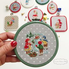Cross Stitching, Cross Stitch Embroidery, Hand Embroidery, Cross Stitch Charts, Cross Stitch Patterns, Christmas Cross, Christmas Diy, Stitch Doll, Christmas Embroidery