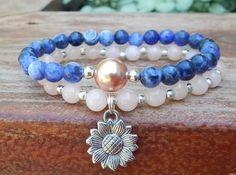 Sunflower Charm Bracelet – BlueStoneRiver