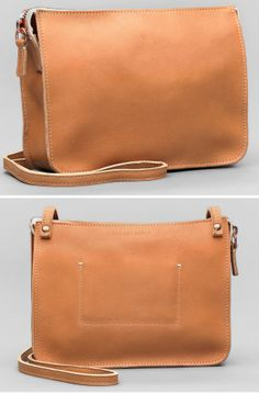 Tan Leather Crossbody Purse - Hand Made in The USA!