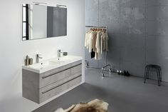 Second Editions Double Vanity Set with Mirror Vanity Set With Mirror, Vanity Units, Double Vanity, Beautiful Homes, The Unit, Bathroom, De Stijl, Marble Top, Bath Tube