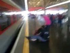 Woman Almost Got Run Over By a Train Because She Was Trying to Pick Up Her Phone from the Tracks
