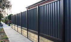 contemporary concrete fence - Google Search