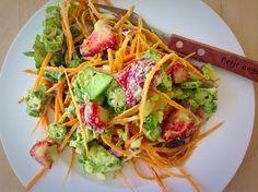 Raw Okra and Avocado Salad #rawokra