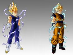 Super Sayan Vegeta and Goku