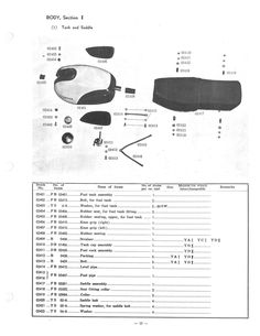 yamaha parts manual yds1 250s 1960 1961 and 1962 replacement spares rh pinterest co uk 1972 Yamaha 175 Enduro 1972 Yamaha 175 Enduro