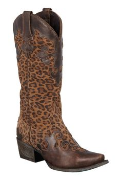 Lane Boots Dawson Cheetah Print Women's Cowgirl Boots - HeadWest Outfitters