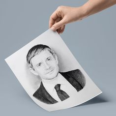 Martin Freeman Portrait Drawing, Photo to Sketch, Pencil Sketch. Photo Sketch, Martin Freeman, Handmade Art, Personalized Gifts, Art Pieces, Pencil, Portrait, Drawings, Artwork