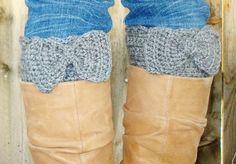 Handmade Bow Crochet Boot Cuff Legwarmer by CherryLaneBowtique, #handmade jewelry #handmade cards #handmade paper flowers