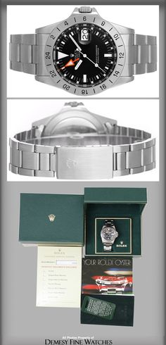 Sport Watches, Cool Watches, Watches For Men, Vintage Rolex, Vintage Watches, Luxury Watches, Rolex Watches, Rolex Wrist Watch, Black Rolex
