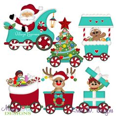 Winter Village Town Train SVG-MTC-PNG plus JPG Cut Out Sheet(s) Our sets also include clipart in these formats: PNG & JPG