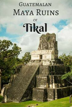 The Guatemala Mayan Ruins of Tikal are a UNESCO World Heritage site situated in a 575 square kilometer National Park. The park contains thousands of ruins including massive stone temples scattered throughout the jungle dating back to 900 BC. You may even recognize some of them from the movie Star Wars: Episode IV A New Hope via @livedreamdiscov