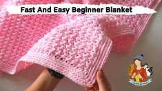 How To Crochet Fast And Easy Beginner Blanket If you are looking for an cozy and simple blanket for your baby and if you are a beginner, this tut Crochet Baby Blanket Free Pattern, Crochet Baby Blanket Beginner, Beginner Crochet Tutorial, Beginner Crochet Projects, Baby Girl Crochet, Simple Crochet Blanket, Free Crochet, Crochet Pattern, Crochet Stitches
