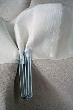 how to make pleated net curtains