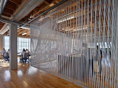 ropes Commercial Office Space, Commercial Design, Room Divider Screen, Open Office, Corporate Interiors, Corporate Design, Office Interiors, Retail Design, Room Interior