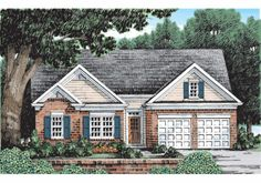 Cottage Style 1 story 3 bedrooms(s) House Plan with 1232 total square feet and 2 Full Bathroom(s) from Dream Home Source House Plans Garage Floor Plans, Cottage Floor Plans, Basement House Plans, Ranch House Plans, Cottage House Plans, Best House Plans, Country House Plans, Small House Plans, House Floor Plans