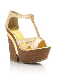 glitter wood wedges $33.40