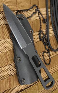 Winkler Knives Defensive Dagger - Integral Construction Black KG Fixed Knife Blade