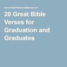 20 Great Bible Verses for Graduation and Graduates