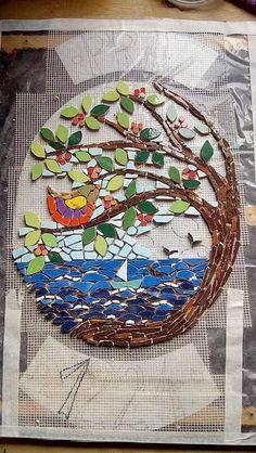 Mosaic Animals, Mosaic Birds, Mosaic Flowers, Mosaic Artwork, Mosaic Wall Art, Tile Art, Mosaic Crafts, Mosaic Projects, Mosaic Rocks