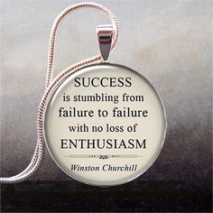 Churchill quote pendant on Success funny by thependantemporium, $8.95