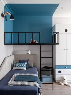 Modern Kids Bedroom, Kids Bedroom Designs, Home Room Design, Room Interior Design, Home Decor Bedroom, Teen Bedroom, Small Room Interior, Grey Room, House Rooms