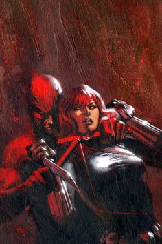 Daredevil and Black Widow (Yeah, I've had this thought about my ex too.)