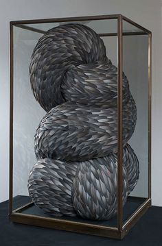 feather sculpture by kate mcwire