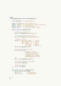 Web Developer Ad AD: Paul Belford