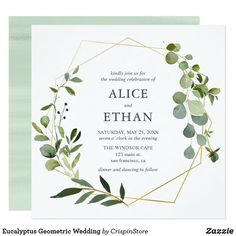 Eucalyptus Geometric Wedding Invitation Trendy 2019 - Wedding Invitations Trends 2019 - Nail polish patterns that you can do with the nails arts friends look at the hands of . Photo Wedding Invitations, Save The Date Invitations, Watercolor Wedding Invitations, Wedding Invitation Design, Event Invitations, Invitations Online, Graduation Invitations, Invitation Ideas, Wedding Stationery Trends