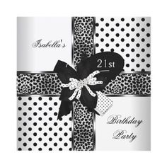 St Birthday Invitations Black Gold Glitter Twenty First - Black and white 30th birthday party invitations